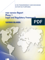 Peer Review Report Phase 1 Legal and Regulatory Framework - Cayman Islands