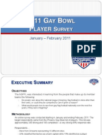 NGFFL 2011 Player Survey Summary (FINAL DRAFT)