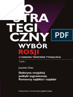 Geostrategiczny wybór Rosji u zarania trzeciego tysiąclecia (Russia's Geostrategic Choice at the Dawn of the Third Millenium)