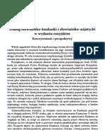 Dialog słowiańsko-kaukaski i słowiańsko-azjatycki w wydaniu rosyjskim. Rzeczywistość i perspektywy