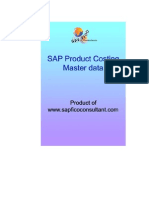 CO Product Costing Master Data