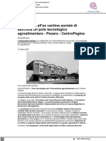 All'ex cantina sociale di Morciola un polo tecnologico agroalimentare - Centropagina.it, 14 aprile 2021