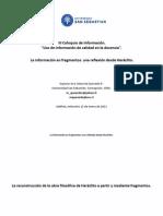 La información en fragmentos una reflexión desde Heráclito- Marcela Quevedo