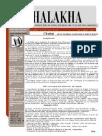 HALAKHA N° 24 chabat introduction