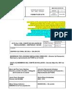 24 Septiembre 2009, Acta Municipal  No 6 Comite de Inclusion de la T-291-09