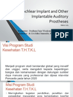 Cochlear Implant and Other Implantable Auditory Prostheses