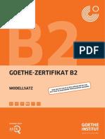 Goethe b2 Modellsatz
