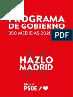 Principales Medidas Programa Electoral PSOE 4M