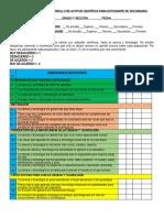ENCUESTA; SOBRE EL DESARROLLO DE ACTITUD CIENTÍFICA PARA ESTUDIANTE DE SECUNDARIA-2021
