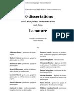 20 Dissertation sur La Nature