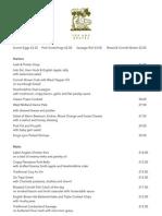 F&G menu