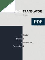 Freelance Translator Template