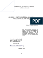CONSUMO E CULTURA MATERIAL - SP BELLE ÉPOQUE - teste OLIVEIRA usp
