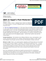 Q&A on Egypt's Post-Mubarak Future