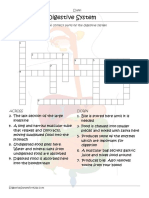 Parts of the Digestive System Crossword Worksheet