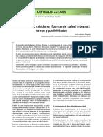 LECTURA 27. LA COMUNIDAD CRISTIANA, FUENTE DE ALUD INTEGRAL