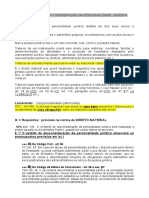 AULA   DO INCIDENTE DE DESCONSIDERAÇÃO DA PERSONALIDADE JURÍDICA