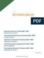 Manual Regulador m31fa600a Marelli