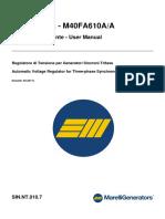 Manual Regulador m40fa610a Marelli