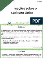 Apresentação CAD Único 2