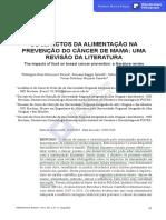 OS IMPACTOS DA ALIMENTAÇÃO NA PREVENÇÃO DO CÂNCER DE MAMA-UMA REVISÃO DA LITERATURA