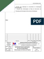 PES-000-00806-UC-R00 - Instrução para Elaboraçã ode Listas de Materiais