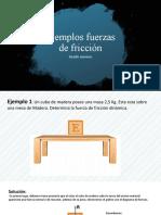 Ejemplos fuerzas de fricción