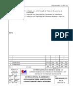 PES-000-00801-UC-R01 - Instrução para Elaboração de Documentos de Subestações Uniformazação de Critérios de Projetos