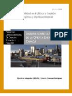 Análisis Sobre La Estructura de La Oferta Energética en Canadá