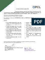2. Carta Del Fabricante -Pcl