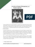 10 Diferencias entre el Karate Okinawense y el Karate Jaopnés