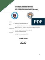 Informe de microbiología N°01 - Reconocimiento de laboratorio