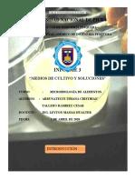 Informe de microbiología N°03 - Preparación de medios de cultivo (3
