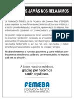 FEMEBA - Los médicos jamás nos relajamos