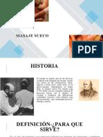 MASAJE SUECO- EXPOSICIÓN