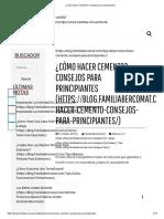 ¿Cómo hacer cemento_ Consejos para principiantes -
