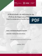 Dissertação a Mobilidade Da Informação Na PSP Uma Estrategia