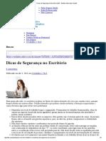 Dicas de Segurança no Escritório _ BIS - Boletim Informativo Saúde