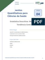 Aula 04 - Fundamentos Quantitativos Para Ciências Da Saúde