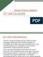 Les Internationalismes Et Les Calques
