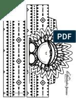 Cocar Preto e Branco Para Colorir Dia Di Indio Atividades Suzano