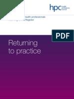 HPC Returning_to_practice
