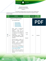 Agenda de Aprendizaje M3-1
