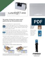 IMPRESORAS FARGO MEXICO Card Jet 410 Manual Especificaciones WWW.IDSECUREWORLD.COM