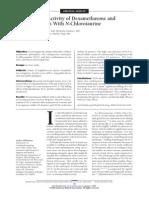 anti microbial activity with dexamethazone