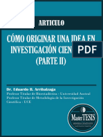067. MasterTESIS - ARTICULO Cómo originar una idea en investigación científica 2008
