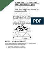 PROJET ANALYSE DES STRUCTURES ET CONSTRUCTION METALLIQUE