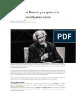 Zygmunt Bauman y su aporte a la investigación social