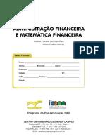 Administração Financeira e Matemática Financeira
