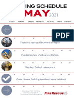 May 2021 Training Schedule